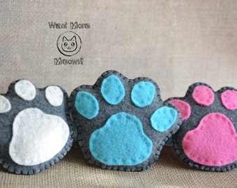 Cat toys catnip, Felt cat toys, Unique cat toys, Organic cat toys, Paw cat toys, Kawaii cat toy, Organic catnip Eco friendly soft cat toy