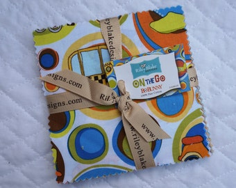 On the Go - Charm Pack - 23 pieces - By Bo Bunny - Riley Blake Fabric