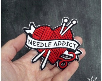 Needle Addict - Iron on Gang Patch