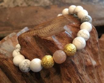Beaded Bracelet, Stretch Bracelet, Boho Bracelet, Womens Bracelet