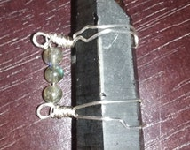 Smoky Citrine Lemurian Seed Crystal-Lazer wand-Healing, Balance, Meditation-wire wrapped-Labradorite-
