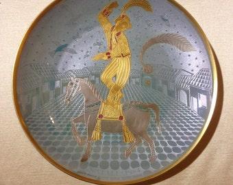 """Atelier r. Sarti 1984 CHRISTMAS dish """"Fiorello and his white pony"""""""