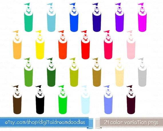 Items similar to Pump Bottle Clip Art - Dispenser Bottle Clipart Image, Toiletry ...