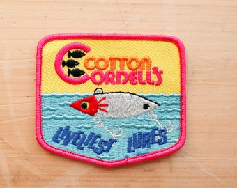 Vintage Cotton Cordell's Liveliest Lures Patch