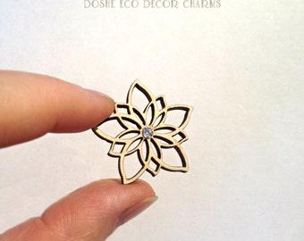 Beautiful Laser cut FLOWER wood shape / Wood flowers / Laser cut wood / Wood shapes / Wood charms / Unfinished wood / Flowers / Flower decor