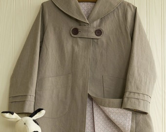 Girls' SAILOR-COLLAR COAT