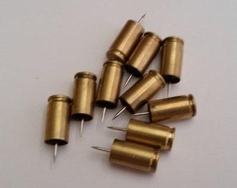 9mm Brass Pushpins -Lot of 10 - Sku 401