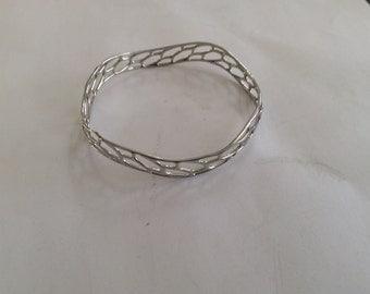 Daniel Christian Wang cuff bracelet platinum plated # 244