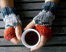 Unisex, Wrist Warmers, Color Fingerless Gloves, Crochet Fingerless Gloves, Hand Warmer, Hobo Gloves, Mens Hand Warmers, Ski Gloves, Gift