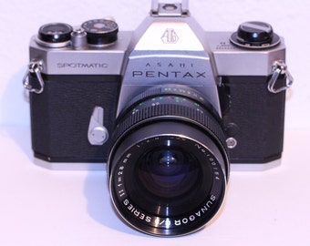 Asahi Pentax Spotmatic SP ii With 28mm Sunagor Prime lens