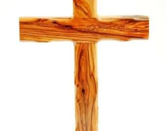 Bethlehem Olive Wood Catholic Wall Cross from the Holy Land