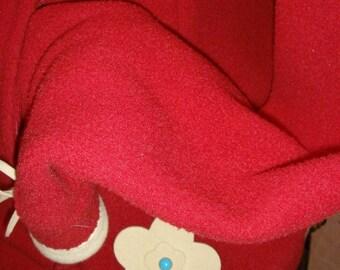 Jacket woman, red fleece jacket
