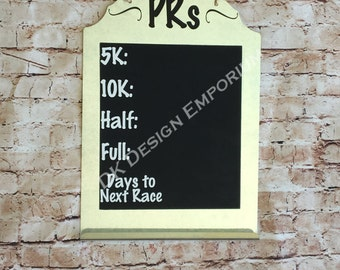 Running PR Chalkboard - Personal Record Board - Personal Best Board