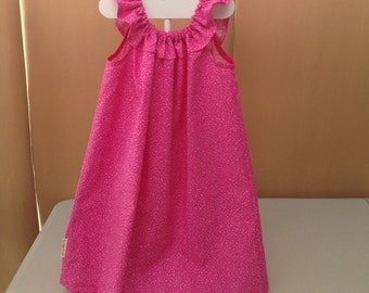 Pink ruffle top dress