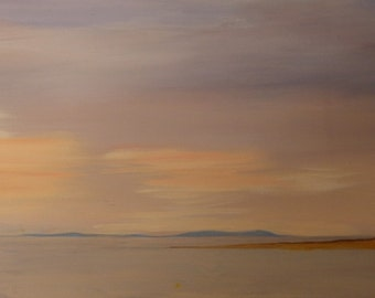 Dee estuary with little eye -panoramic