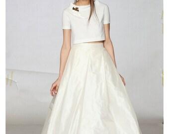 Bridal Skirt, Wedding Skirt, Silk Skirt, Tulle Ball Skirt, Formal Skirt, Long Wedding Skirt, Bridesmaid Skirt, Wedding Clothing, White Skirt