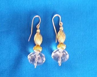 Liya-Handmade crystal earrings with 14kt gold filled ear wires.