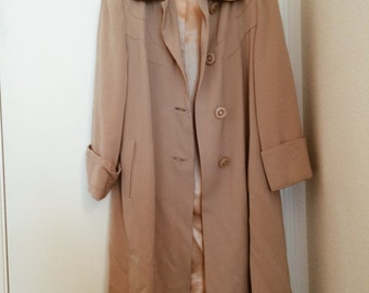 Authentic 1940s Swing Coat - Light Tan
