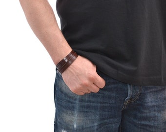 Brown Leather Bracelet Mens / Leather Wrist Cuff, Leather Wrap Bracelet / Leather Bracelet For Men, Leather Cuff Bracelet, Leather Arm Cuff