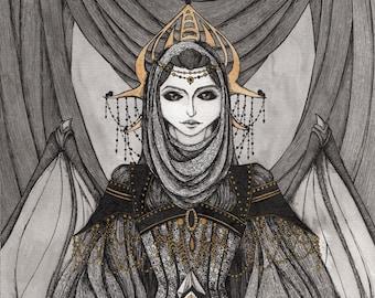 Black Queen - wake (digital printing)