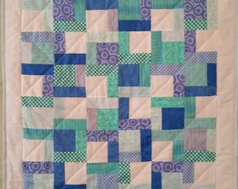 Baby Quilt/ Toddler Quilt/ Lap Quilt/ Throw Quilt/ Patchwork Quilt/ Child Bedding/ Baby Gift Idea/ Hospital Quilt/ Housewarming Gift