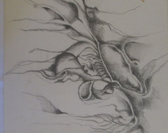 One of four drawings - pencil on paper #3