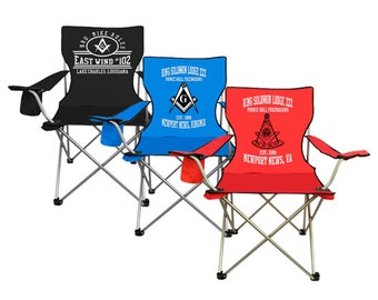 Custom Lawn / Folding Chair Masonic / Lodge