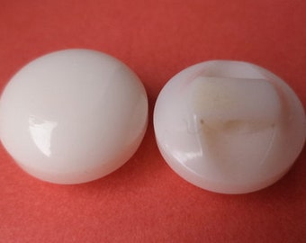 18 small white buttons 13mm (2034)