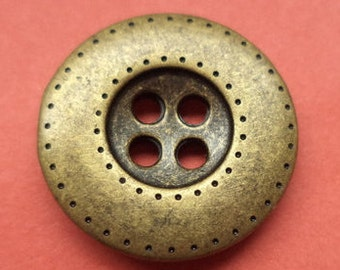 6 metal buttons brass buttons 18 mm (5567)