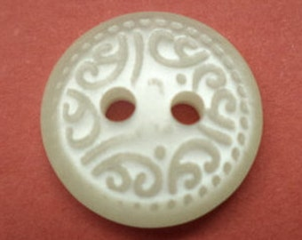 10 buttons 13mm white (4169) white button