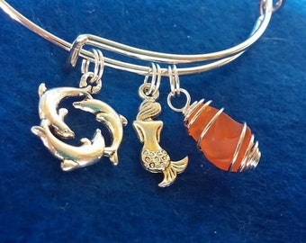 The Shy Little Mermaid Bangle Bracelet