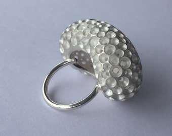 Maxi ring bubble, silver 925