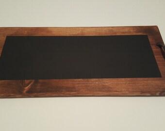Wood chalk cheese/wine tray