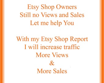 SEO Report to increase Traffic, Views and Sales