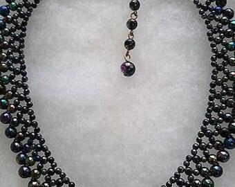 Vintage Carnival Bead Collar/Collarette Necklace