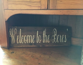 Welcome Sign Custom Made/ Last Name Sign