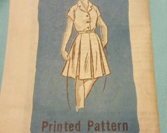 1960 Printed Pattern Size 14 #9056