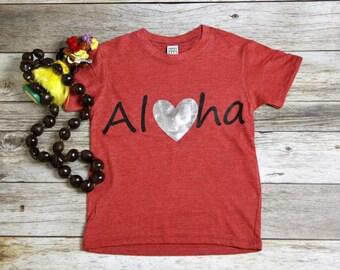 Aloha Tee. Summer Shirt. Aloha Shirt. Vacation Shirt. Hawaii baby tee.