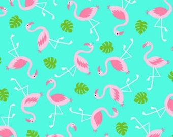 flamingos cotton twill for ringsling