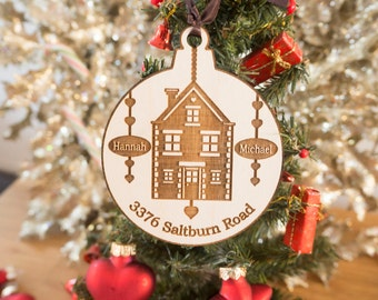 Custom Home Ornament - Personalized Christmas Ornaments - House Ornament - New Home Gift - Real Estate Closing Gifts - Housewarming Gift