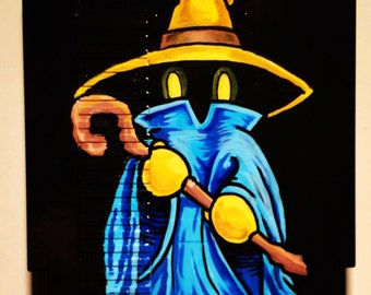 Black Mage Painted Nintendo Cartridge