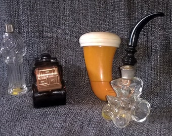 Avon Aftershave Bottles, 4 Vintage Aftershave Bottles, Rare, Retro Aftershave Bottles, Grooming Proucts
