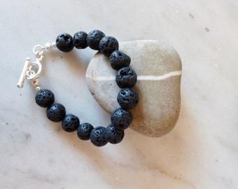 Volcanic stones bracelet