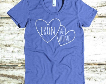 Iron and Wine Vintage Style American Apparel Polycotton T-Shirt