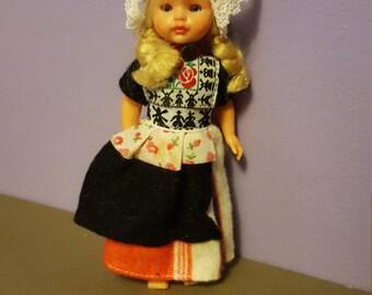Reduced Price--Little Dutch Girl 1963 Vintage Cultural Ambassador Ethnic Doll-Blonde, Blue Eyed