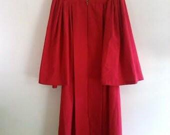 Red Vintage Choir Robe