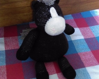 Knitted Horse, Knitted Pony, Horse Toy, Pony Toy, Stuffed Toy Horse, Horse Teddy, UK Seller, Stuffed Toy, Knitted Toy, The Knitted ZoOo