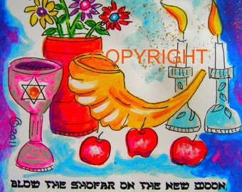 4 Jewish New Year cards