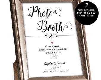 photo booth sign printable etsy. Black Bedroom Furniture Sets. Home Design Ideas