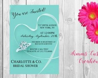 Tiffany & Co. Bridal Shower Invite